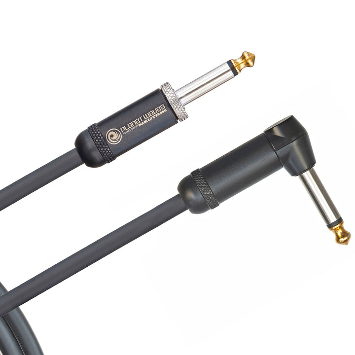 D'Addario American Stage Instrument Cable Angled to Straight 15 Feet PW-AMSGRA-15