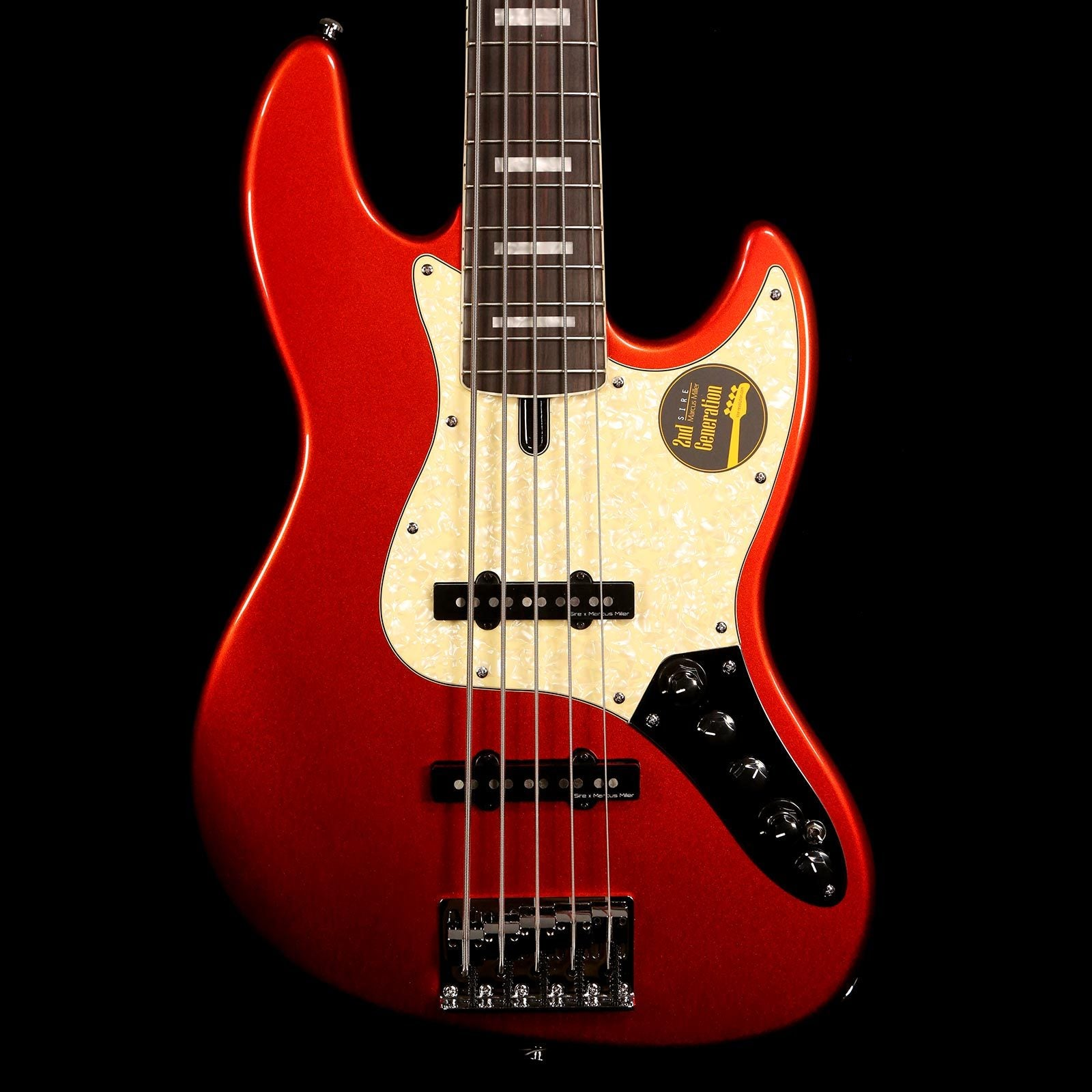 Sire Guitars Marcus Miller V7 Alder 5-String Bass 2nd Generation Bright  Metallic Red