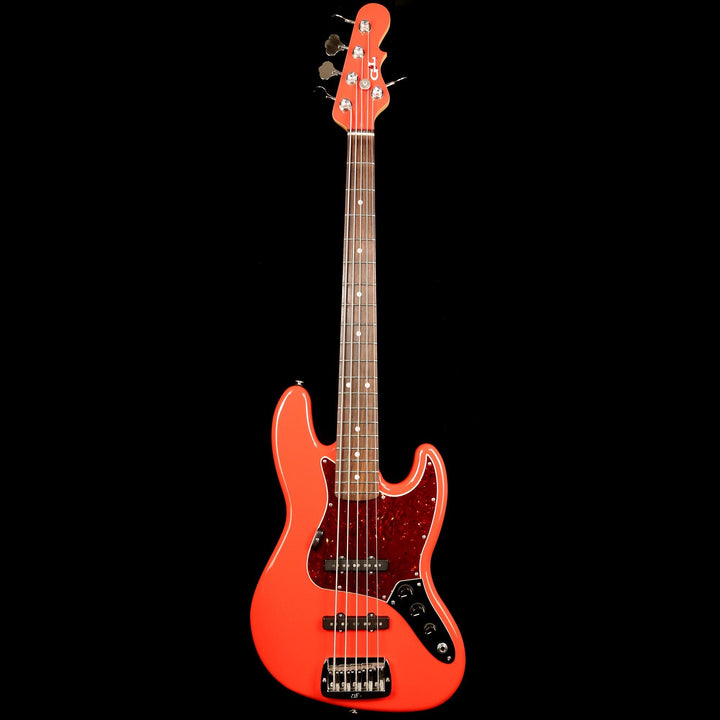 G&L JB-5 5-String Bass Fiesta Red 2017 CLF1707134
