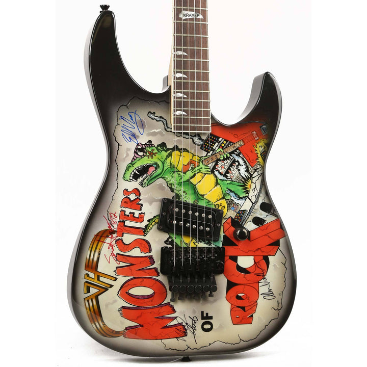 Kramer Baretta II Monsters of Rock Signed by Van Halen 1988 F 4762