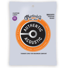 Martin MA535FX Authentic Acoustic Flexible Core Strings Phosphor Bronze Custom Light 11-47