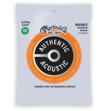 Martin MA500FX Authentic Acoustic Flexible Core Strings 12-String Phosphor Bronze Extra Light 10-54