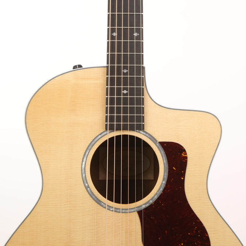 Taylor 214ce-FO DLX Figured Ovangkol Grand Auditorium Acoustic-Electric Natural 2110119380