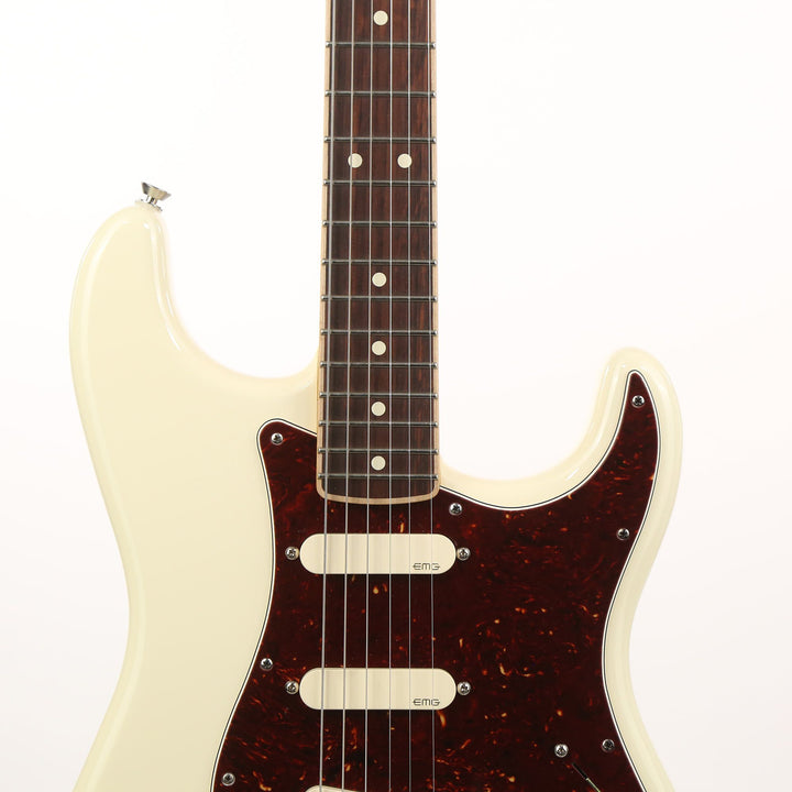 Fender American Standard Stratocaster Channel Bound Limited Edition Olympic White 2016 US16041019