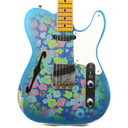 Fender Custom Shop Double Esquire Thinline Custom Relic Blue Floral 2020