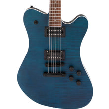 Jackson X Series Signature Mark Morton Dominion DX2FM Laurel Fingerboard Satin Transparent Blue