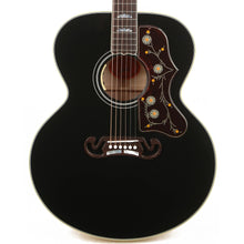 Gibson SJ-200 Acoustic-Electric Made 2 Measure Ebony Top Natural Back and Sides