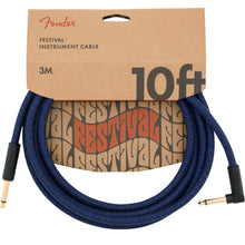 Fender Angled Festival Instrument 10 Foot Cable Blue