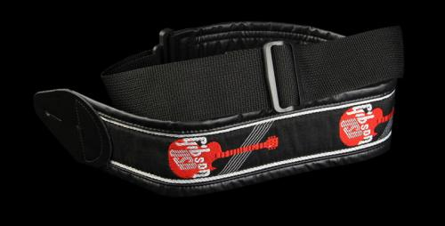 Gibson Logo Woven Guitar Strap (Black/Red)