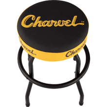 Charvel Toothpaste Logo Barstool Black and Yellow 24""