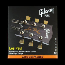 Gibson Les Paul Nickel Wound Electric Strings (Ultra Light 9-42)