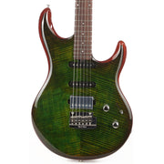 Ernie Ball Music Man Luke III HSS Luscious Green Flame Top