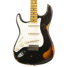 Fender Custom Shop 1956 Stratocaster Left-Handed Heavy Relic Black over 2-Color Sunburst