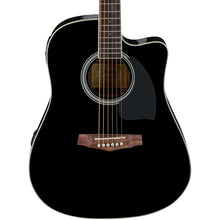 Ibanez PF Series PF15ECE Dreadnought Cutaway Acoustic-Electric Cutaway Gloss Black