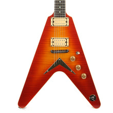 Dean USA Patents Pending V Flame Top Trans Cherry Sunburst