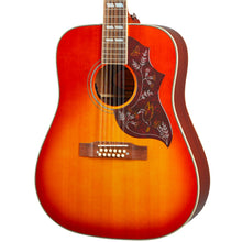 Epiphone Inspired by Gibson Hummingbird 12-String Acoustic-Electric Aged Cherry Sunburst Gloss