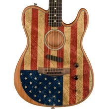 Fender American Acoustasonic Telecaster Limited Edition Flag Print