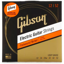 Gibson Flatwound Electric Guitar Strings Light 12-52