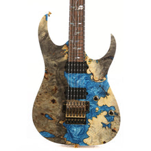 Ibanez RG j.custom Buckeye Burl and Blue Resin Fill