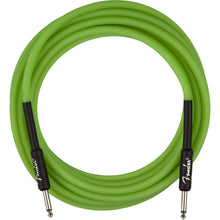Fender Professional Series Glow in the Dark Cable Green 18.6 Feet