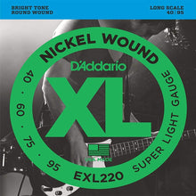 D'Addario Nickel Wound Bass Strings (Super Light 40-95)