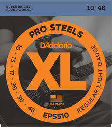 D'Addario ProSteels Electric Strings (Regular Light 10-46)