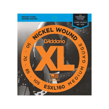 D'Addario Nickel Wound Double-Ball Bass Strings (Medium 50-105)