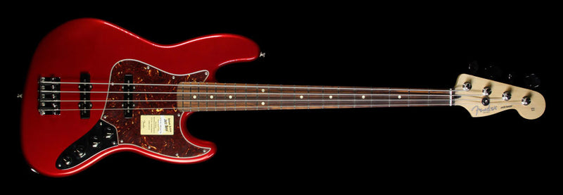 Used Fender Deluxe Active Jazz Bass Electric Bass Guitar Candy Apple Red