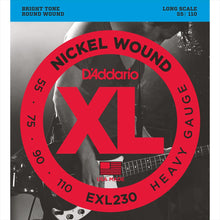 D'Addario Nickel Wound Bass Strings (Heavy 55-110)