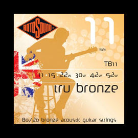 Rotosound TB11 Tru Bronze 80/20 Acoustic Strings (11-52)