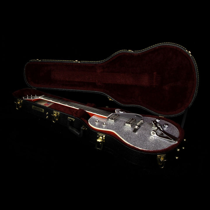 Used Gretsch G6129T Silver Jet with Bigsby Electric Guitar Silver Sparkle JT16031158