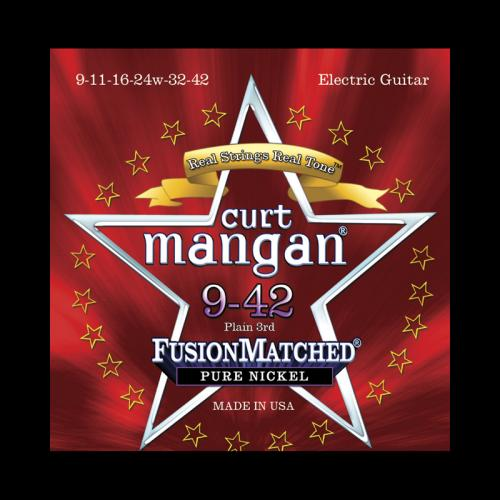 Curt Mangan Fusion Matched Pure Nickel Electric Strings (9-42)