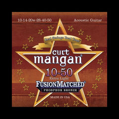 Curt Mangan Fusion Matched Phosphor Bronze Acoustic Strings (10-50)