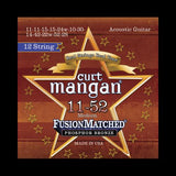 Curt Mangan Fusion Matched Phosphor Bronze 12-String Acoustic Strings (11-52)