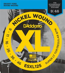 D'Addario Nickel Wound Double Ball End Strings (9-46)