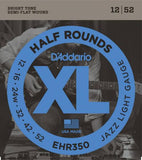 D'Addario Half Rounds Electric Strings (Jazz Light 12-52)