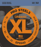 D'Addario ProSteels Electric Strings (Light Top/Heavy Bottom 10-52)