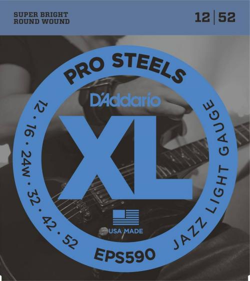 D'Addario ProSteel Electric Strings (Jazz Light 12-52)