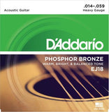 D'Addario Phosphor Bronze Acoustic Strings (Heavy 14-59)
