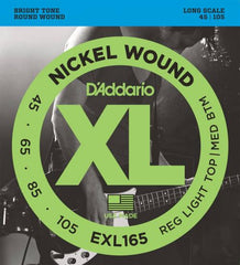 D'Addario Nickel Wound Bass Strings (Reg Top/Medium Bottom 45-105)