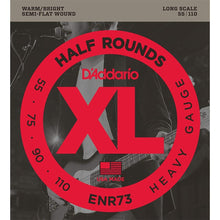 D'Addario Half-Round Bass Strings (Heavy 55-110)