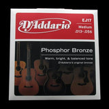 D'Addario Phosphor Bronze Acoustic Strings (Medium 13-56)