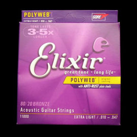 Elixir Polyweb Acoustic Strings (Extra Light 10-47)