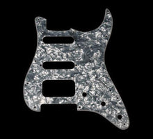 Fender American Deluxe Fat Strat H/S/S Pickguard (Black Pearl)