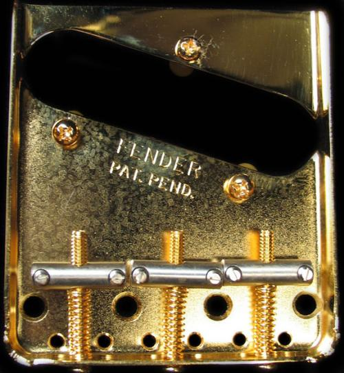 Fender Vintage Tele Bridge Assembly (Gold)