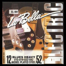 La Bella Nickel Plated Roundwound Strings (Blues Heavy 12-52)