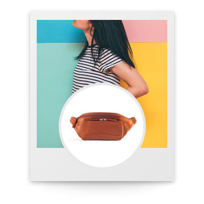 polaroid with Osgoode Marley RFID Waist pack in Brandy