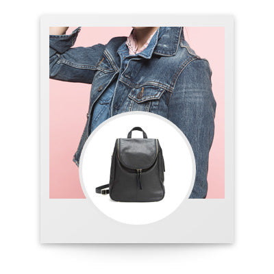 Polaroid photo of the Osgoode Marley Nora Backpack in Black