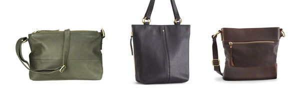 trio of womens bags