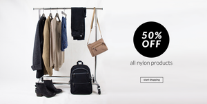 50% off all nylon products. Click here to start shopping.